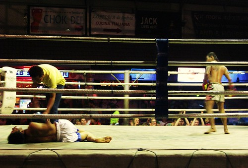 At a Muay Thai kickboxing match - Chiang Mai, Thailand