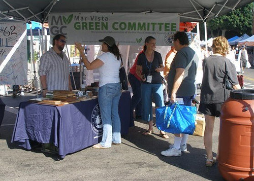 Mar Vista Green Committee Farmers Market booth