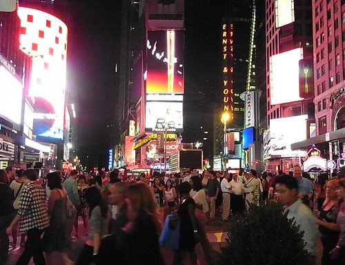 times square in the midnight