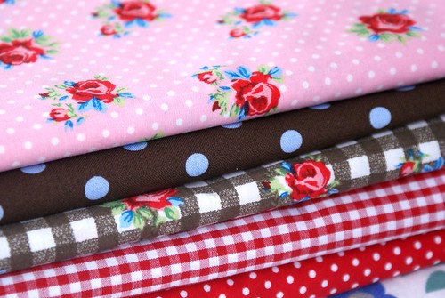 roses, polka dots and checks