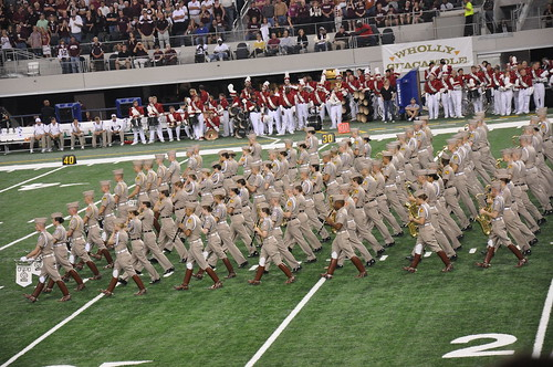Texas A&M Marching Band - Arkansas vs Texas A&M - Cowboys Stadium - Arlington, TX - 10/3/09
