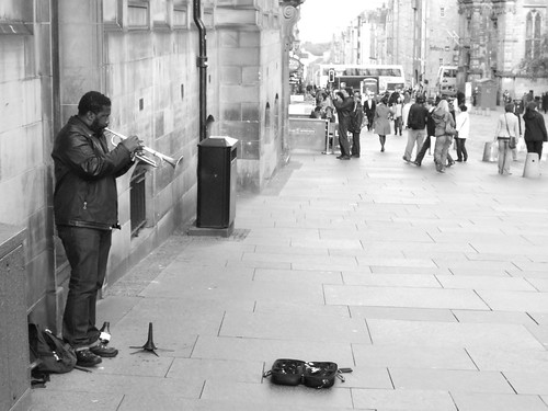 jazz trumpeter on the Mile 3