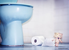 How can I get up there..... (avenue207) Tags: toy toilet danbo revoltech danboard