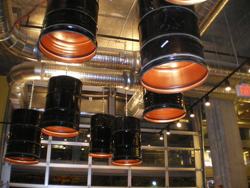 Light Fixtures - Repurposed Oil Barrels