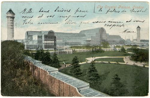 Crystal Palace- vintage postcard