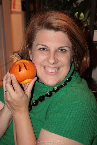 Jenn and pumpkin