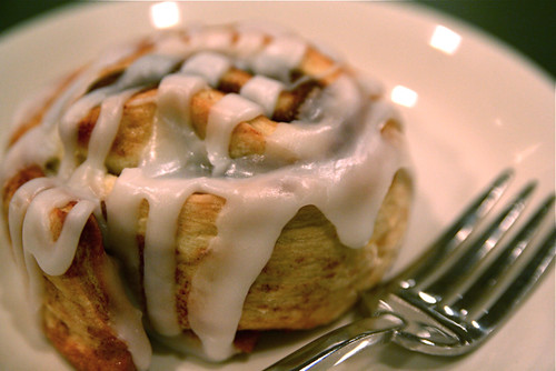 Cinnamon Roll and Fork 11-1-09 -- IMG_9386 by stevendepolo.