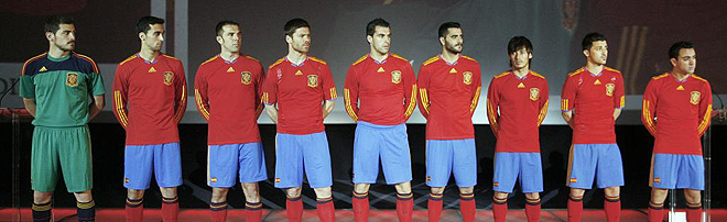 adidas Spain Soccer Jersey 2010/12 home World Cup 2010