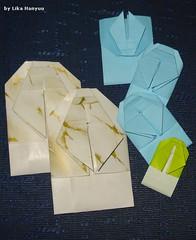 蝉の折り紙封筒 - Envelope de Cigarra