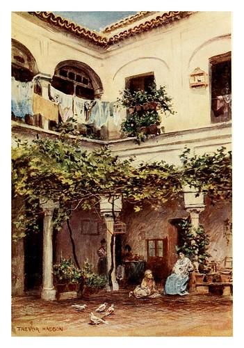 011-Sevilla-Patio Sevillano-Southern Spain 1908- Trevor Haddon