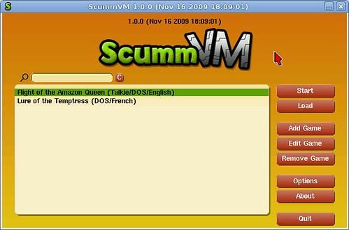 ScummVM au lancement