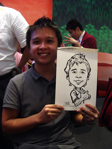 Caricature live sketching for Marina Square X'mas Tenants Gathering 2009 - 10