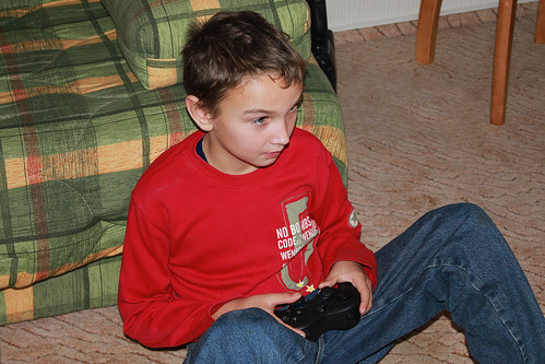 Maxime Playing Playstation