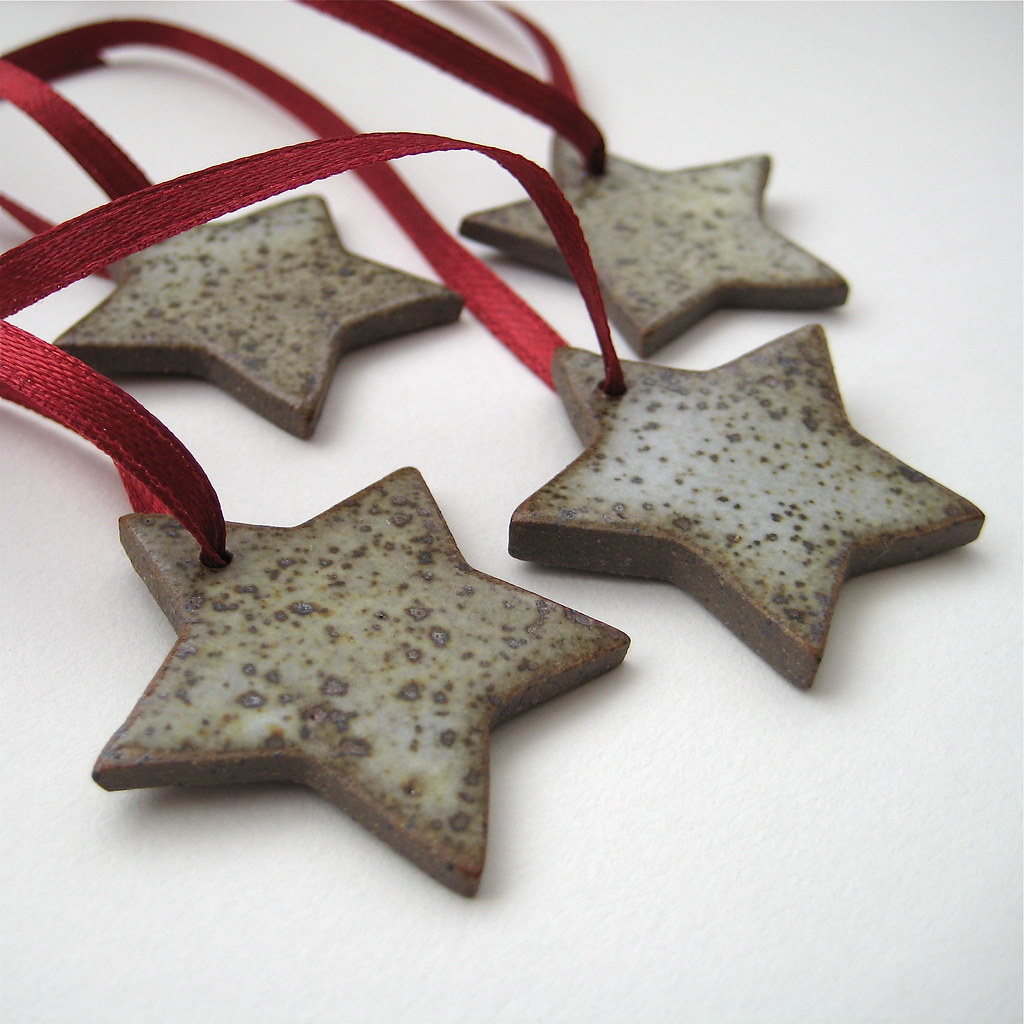 Stoneware Star Decorations