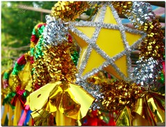 The Filipino Christmas Parol (JoLiz) Tags: christmas yellow silver gold star traditional filipino lantern tradition parol pinoy garbongbisaya falalalameteorgarden