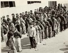 standing in line (reza fakharpour) Tags: education iran tehran   prerevolutioniran rooyaschool dalileharbab maaniesoofi farahnazzangeneh