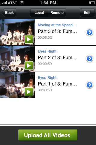 2 of 3 channels changed on Ustream Recorder for iPhone