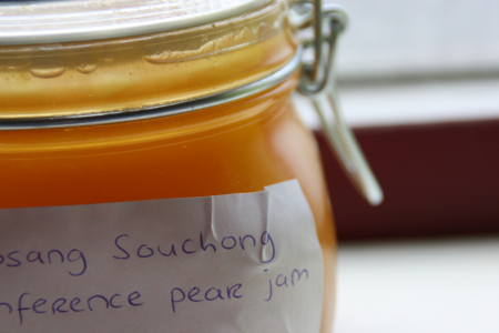 Lapsang Souchong Conference pear jam