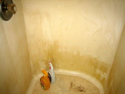 Shower dirty