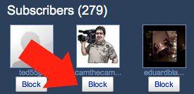 Block YouTube Subscribers