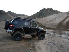 fj,after rains. (shine_on) Tags: desert mud offroad 4x4 dunes toyota jeddah suv fj landcruiser saudiarabia cruiser rains  fjcruiser    bahra    feshfesh