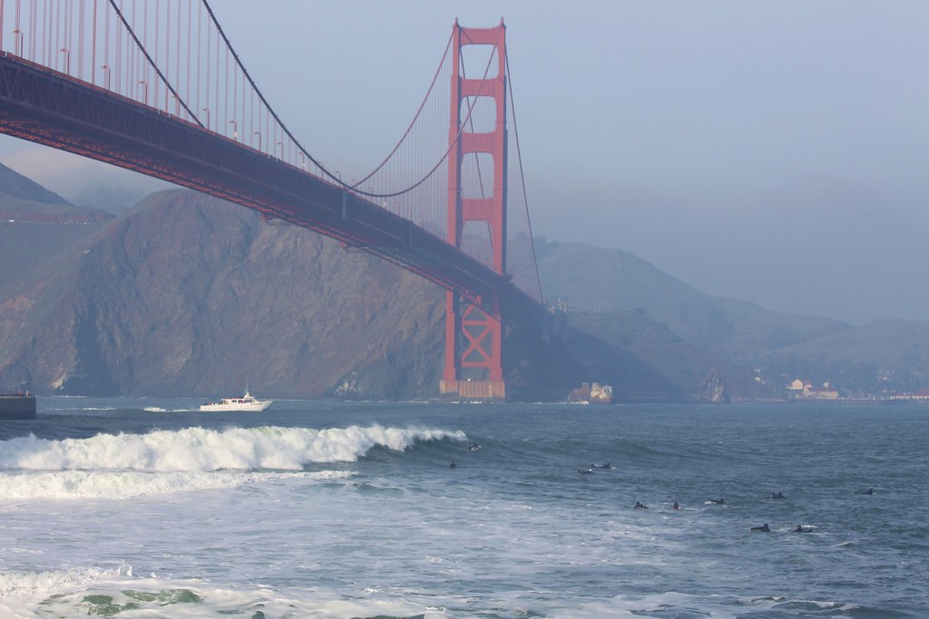 Surfing Fort Point