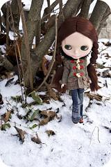 Noelle in the woods