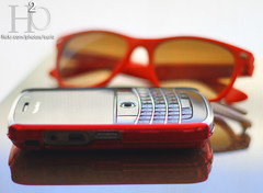 86/365 ,,, (H) Tags: red reflection glass glasses ray blackberry h2o ban rayban redness reddness   masha3el