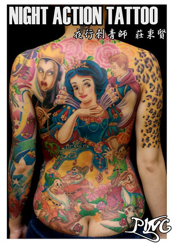 Snow White and the Seven Dwarfs tattoo 白雪公主刺青