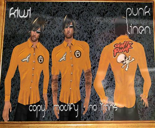 50L Weekend Fever Kiwi punk shirt