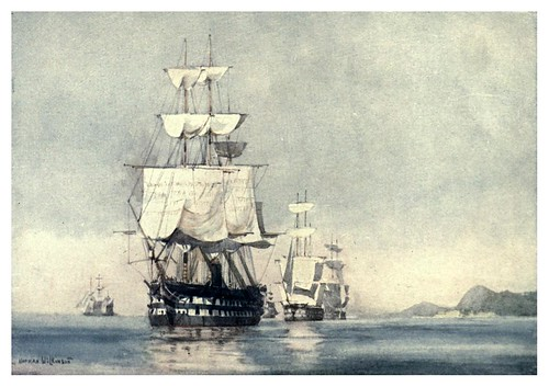 008- Acorazados auxiliares a vela y vapor-The Royal Navy (1907)- Norman L. Wilkinson