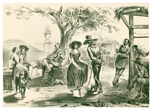 017- Cuba- El zapateado-Álbum pintoresco de la Isla de Cuba- 1853