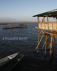 Hut on stilts (Reni Orayani) Tags: lake photography philippines laguna lagunadebay metromanila athousandwords reni fishpen muntinglupa orayani renatoorayani reniorayani legazpisundaymarket baklad