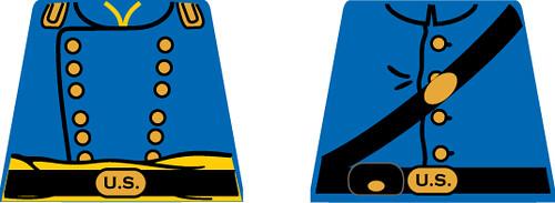 Custom minifig civil war union designs