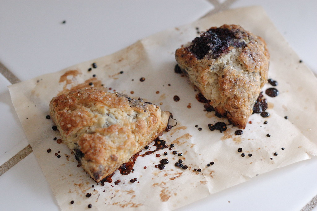 Baking at Home: Weekend Mulberry Scones