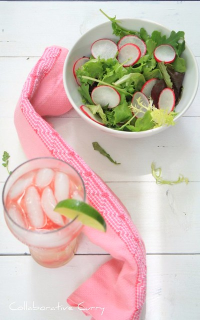 Radish Salad and watermelon in Lemonade