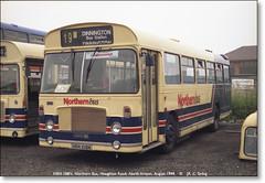 Northern Bus Bristol RESL6L  HRN 108N  August 1994 (Bristol RE) Tags: bristol re fylde ecw resl easterncoachworks northernbus northanston resl6l hrn108n