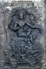 Shiva with dreadlocks (VinayakH) Tags: ekambaranathartemple kanchipuram india tamilnadu temple sculptures historic chola vijayanagaraempire religious hindu shiva