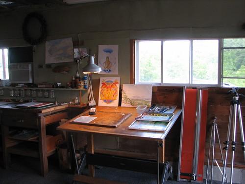 Kevin Raines's studio