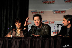 Brendan Fraser at New York Comic Con 2008 (adcristal) Tags: nyc newyorkcity ny newyork film movie 3d eric comic panel action charlotte center nikond70s adventure convention actor qa session fraser director 2008 producer questions flick brendan con huggins answers javits brendanfraser nycc newyorkcomiccon journeytothecenteroftheearth brevig ericbrevig charlottehuggins nikon18200mmf3556g