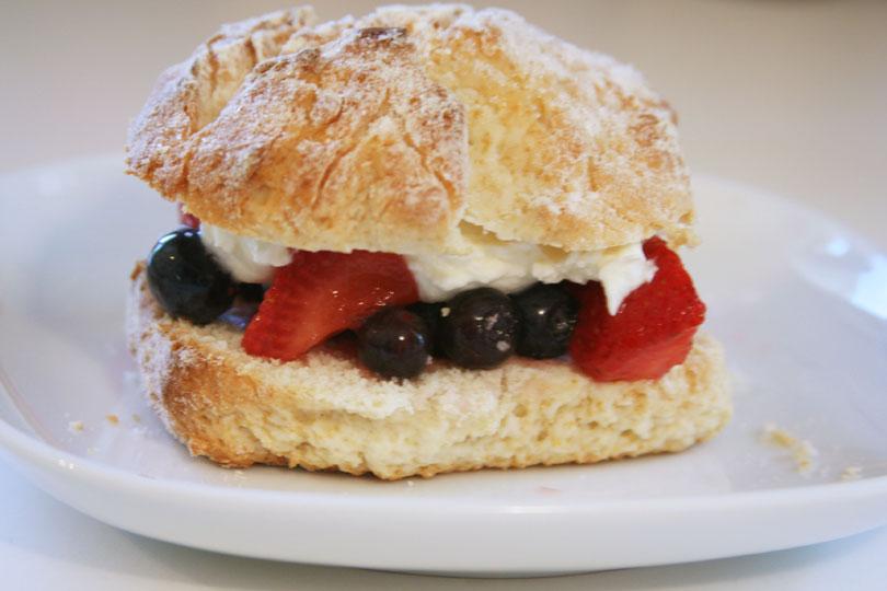 Strawberry & Blueberry Shortcake