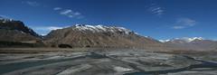 Rangrik Village : Spiti Valley (India.Stretched) Tags: india snow river landscape bluesky valley peaks barren himalayas himachalpradesh spitivalley spitiriver colddesert