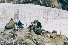 Cho La Pass glacier