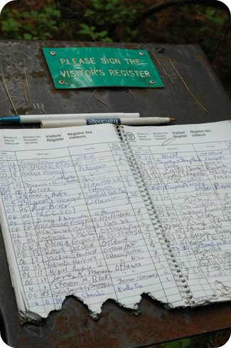 Who nibbled the guest book?