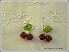 Very Cherry Earrings (Cherry Chick Jewelry) Tags: cherry cherries jewelry handcrafted earrings beaded artisan artisanjewelry cherryearrings cherrychick cherrychickjewelry