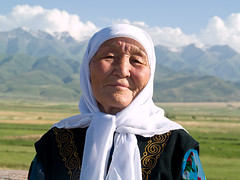 Grandma (Evgeni Zotov) Tags: old grandma portrait people woman mountain smile scarf asia grandmother burana kyrgyz kyrgyzstan kirghizistan kirgistan kirgizia kirgizistan kirgizi kirgisistan tokmak tokmok  kirguistan kirghizia krgzistan quirguisto        lpfaces