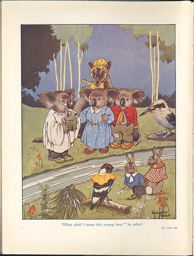Blinky Bill, the quaint little Australian - 'What shall I name this young bear', he asked. 1933