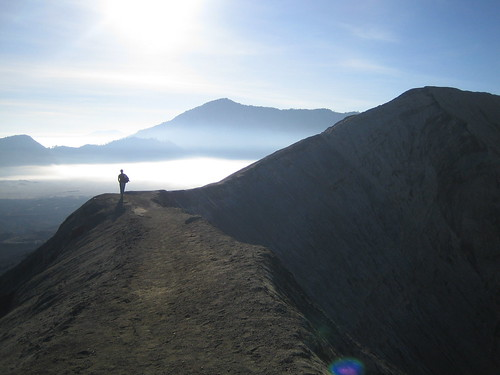 Georg hiking at bromo