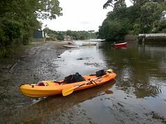 Kayak At Helford Creek (Podknox) Tags: sea england beach seaside holidays cornwall kayak kayaking beaches gillan cornish thelizard cottages kernow helford helfordriver helfordpassage christmascottage helfordcreek