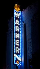 Warner Grand Theatre Sign (Viajante) Tags: california sign night losangeles neon 6thstreet sanpedro losangelescounty warnergrandtheatre nikond80 nikon18135mm3556